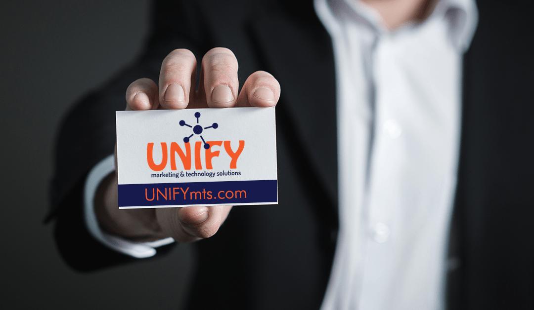 UNIFYmts business card webadress