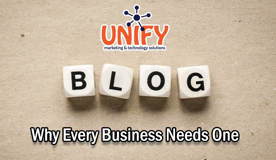 If You're In Business, You Need A Blog Page